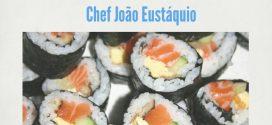 Showcooking de sushi com mirtilo
