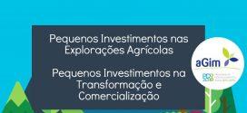 Candidaturas para Pequenos Investimentos nas Explorações Agrícolas e para Pequenos Investimentos na Transformação e Comercialização
