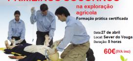 Formação em Primeiros Socorros na exploração agrícola