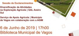 Palestra sobre Diversificação de Atividades na Exploração Agrícola a 6 de junho em Vagos