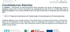 Pequenos Investimentos de transformação de produtos agrícolas: candidaturas abertas na área da ADRIMAG